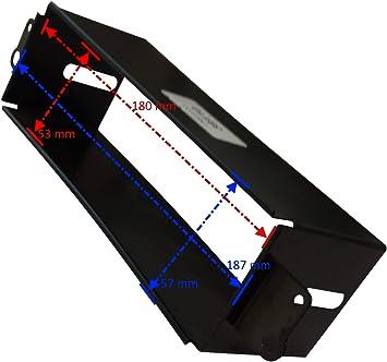 AERZETIX: Marco adaptador 1DIN cubierta metal moldeado para el cambio de autoradio original con un radio estándar del coche vehículos automóvil