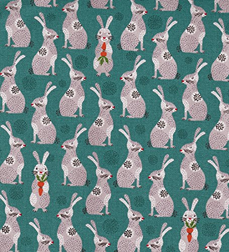Charming Bunnies: Teal and Mauve - Asian Japanese Novelty for sale  Delivered anywhere in USA