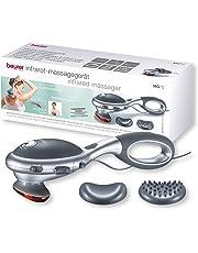 Beurer MG 70 Infrarot Massagegerät, Klopfmassage, zur Massage von Rücken, Nacken, Arme, Beine, zwei verschiedene Aufsätze, Infrarotwärmefunktion