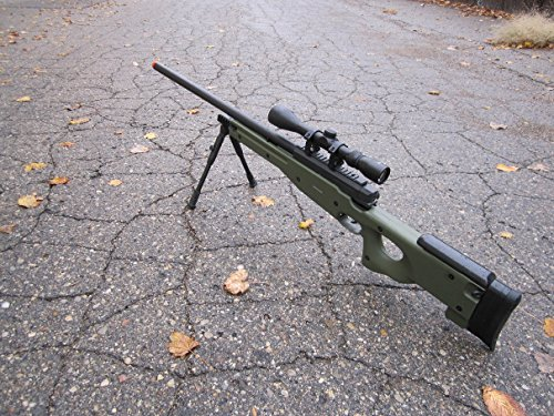 wellfire mk96 bolt action awp sniper rifle w/ scope and bipod - od(Airsoft Gun)
