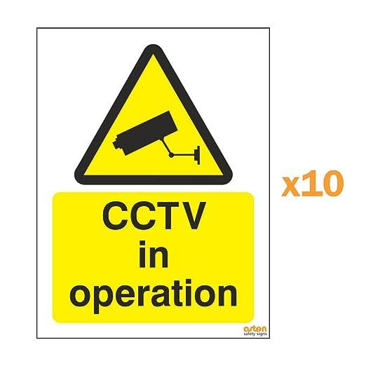 Cartel de señalización de advertencia con texto en inglés ...