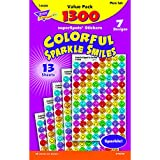 Colorful Sparkle Smiles Stickers Value Pack (1300 Stickers)