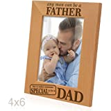 Kate Posh - Any man can be a FATHER, but it takes someone SPECIAL to be a DAD - Engraved Natural Wood Picture Frame - Father's Day Gifts, Father of the Groom, Father of the Bride (4x6 Vertical)