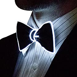Light Up White Color Bow Tie