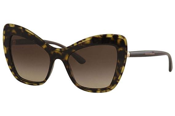 Amazon.com: Dolce & Gabbana DG 4364 Havana/Brown Shaded 54 ...