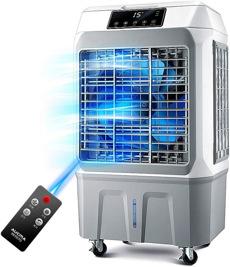 Soporte de Pedestal Refrigerador de Aire, Ventilador de Aire Acondicionado portátil móvil, humidificador y purificador con Control Remoto, 3 configuraciones de Flujo de Aire, Normal, Natural y repo: Amazon.es: Hogar