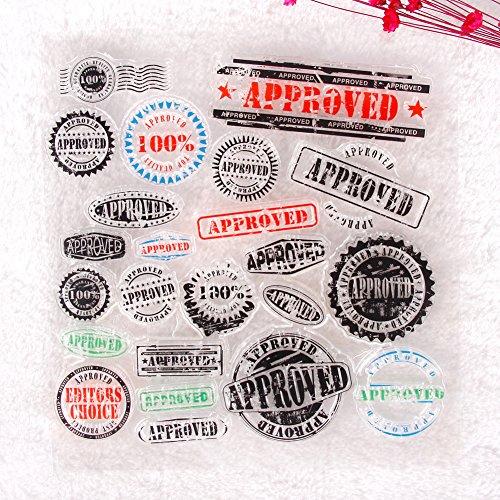 YOUNGFLY Badge Serise Pattern Transparent Rubber Stamp Seal DIY Album Craft Scrapbooking Decor 01