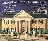 Graceland Elvis Presley at Christmas LED Illuminated & Musical Porcelain Buil.