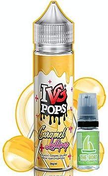 E Liquid IVG Pops Caramel Lollipop 50ml - 70vg 30pg- booster shortfill + E Liquid The Boat 10 ml lima limón - Pack ...