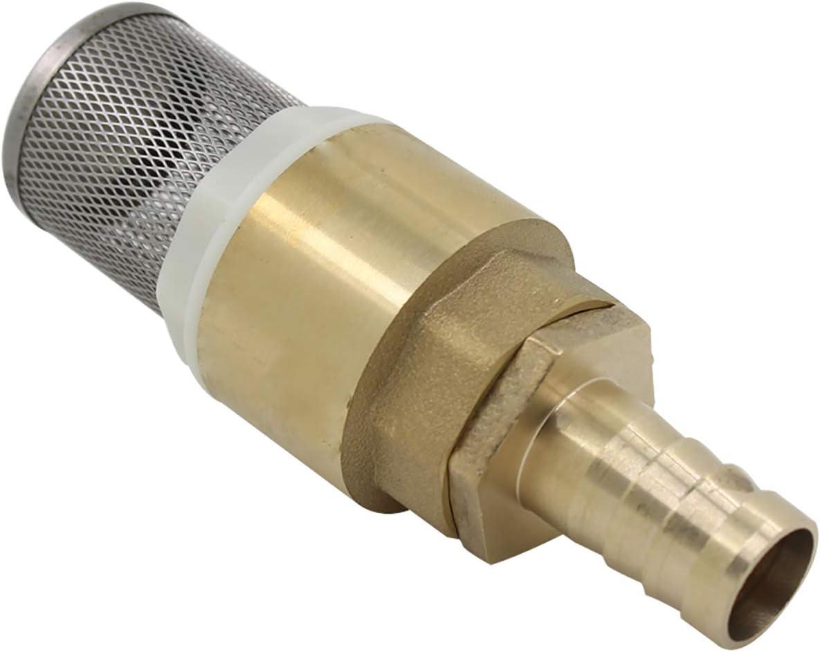 filetage 1//2 pollice + Raccords de tube 12mm clapet de pied clapet crepine anti retour Clapet anti retour avec crepine 1//2 3//4 1 pouce avec douille 12 16 19mm