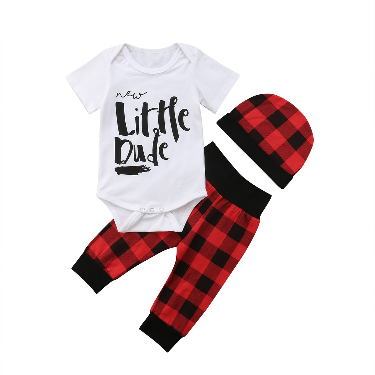 8627e2bb367b 2 Styles: Baby Bear and arrow / new Little Dude print shirt tops+leggings  with matching hat. According to customer feedback, outfit ...