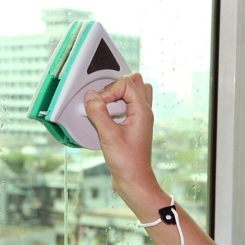 Chiffon en verre double face Fen/être magn/étique r/églable Double Side Nettoyant pour vitres Double couche isolante en verre Baie Artefakt Surface de s/écurit/é s/écuris/ée