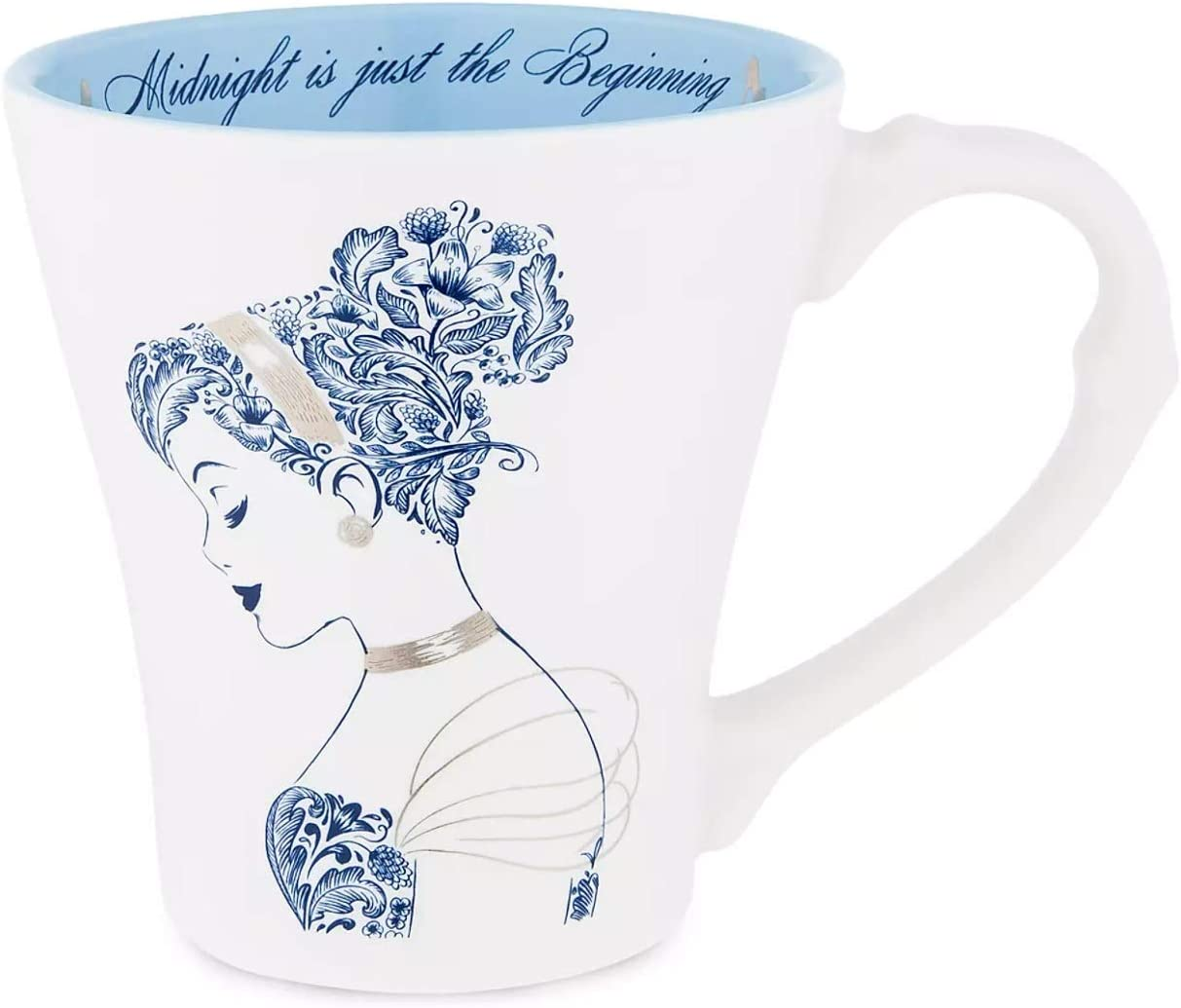 Amazon Com Disney Cinderella Midnight Is Just The Beginning Porcelain Coffee Tea Mug Coffee Cups Mugs