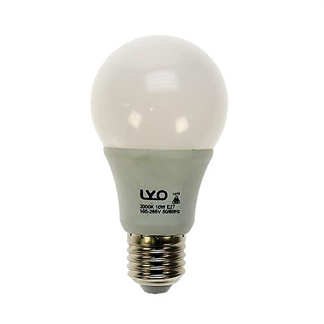 LYO Bombilla LED E27, 10 W, blanco