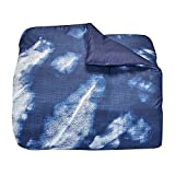 Campus Linens Erin Andrews Collection Navy Tie Dye Twin XL Comforter for College Dorm Bedding