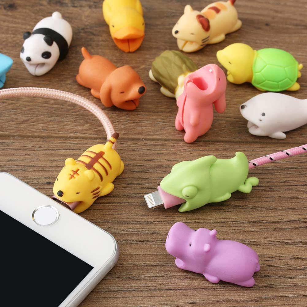 CAOLATOR.Protector de Cable para iPhone Dise/ño de Animales Protector Cubre para Celular Universal Electronics Accessories-Mexicano