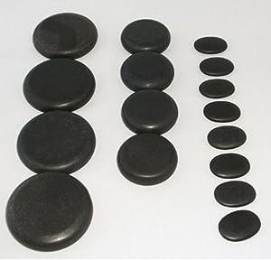 Zabrina 16 Pcs Professional Large Massage Stone Set Basalt Hot Rocks Stones