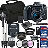 Canon EOS 77D Digital SLR Camera + 18-55mm STM + SD Card Reader + 64GB Memory + Remote + Accessory Bundle - International Version