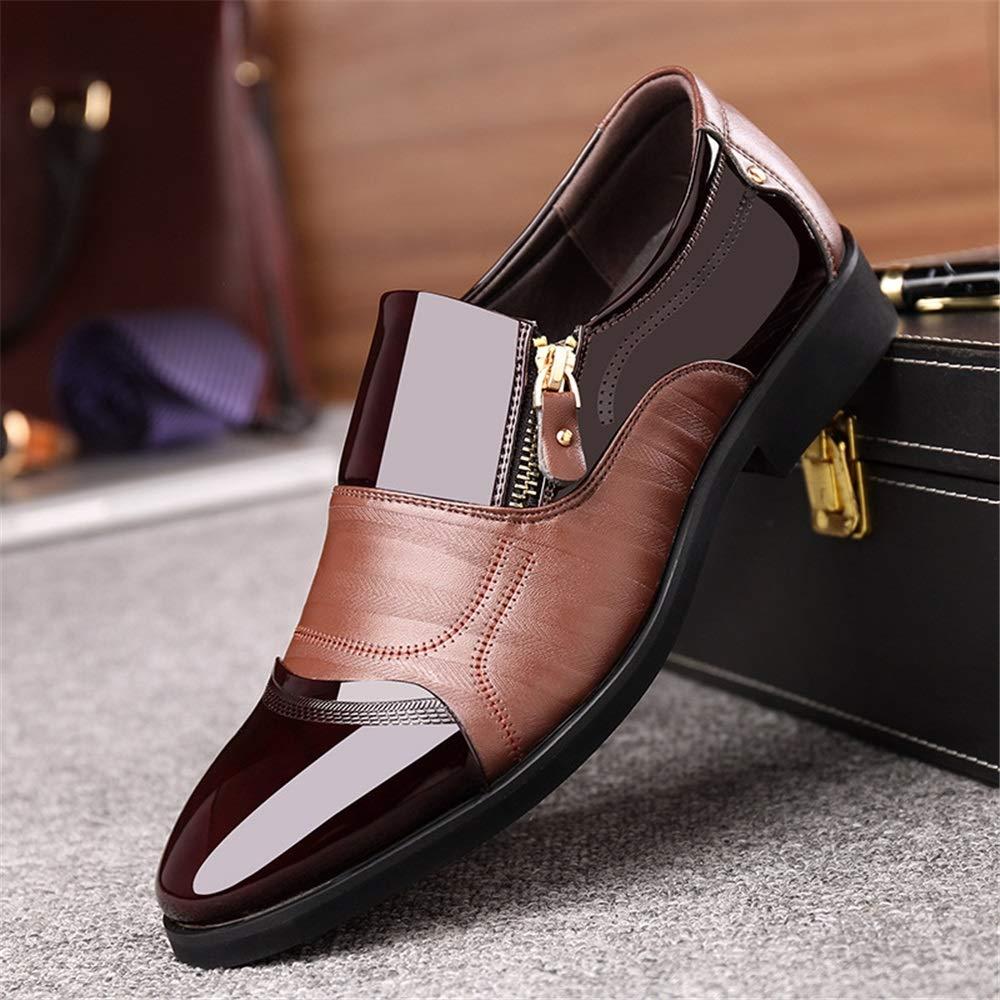Qiusa Mens Business Casual Slip auf Schuhe Formale Büro Büro Büro täglich langlebig Rutschfeste Schuhe (Farbe   Braun, Größe   EU 42) c14afa