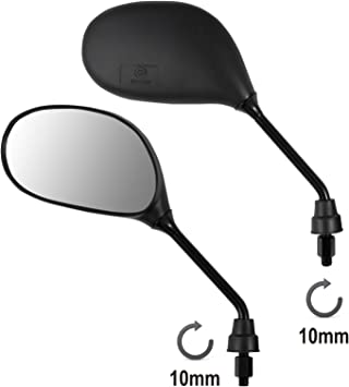 A Pro Rearview Mirrors Scooter Motorcycle Moped Motorbike Handlebar Universal M10 Auto