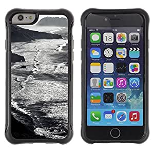 "Hypernova Defender Series TPU protection Cas Case Coque pour Apple Iphone 6 PLUS 5.5 [Waves Beach Montañas Negras""]"