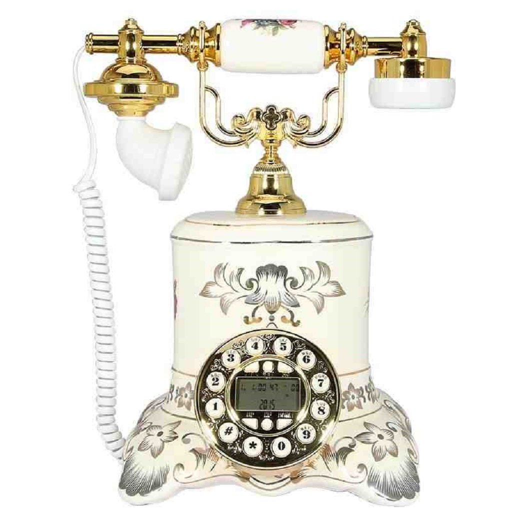 LCM Wired Telephone Ceramic High - End Office Telephone Home Desktop Retro Set (Resin,233025CM) by LCM