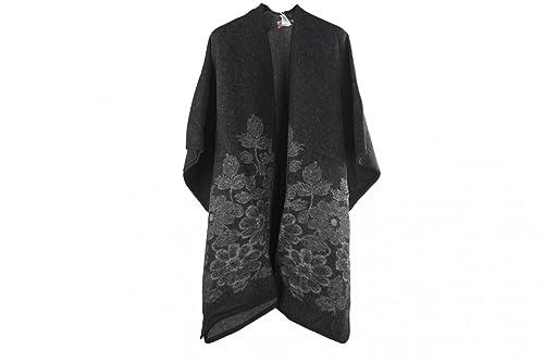 Scialle donna ROMEO GIGLI nero poncho mantella coprispalle taglia unica