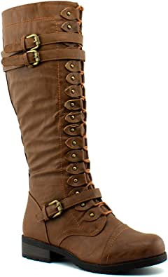 Wild Diva Womens TIMBERLY-65 Timberly-65 Brown Size: 8.5