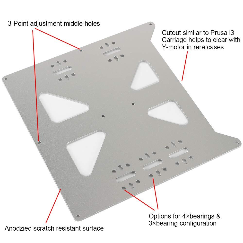 Piastra di Costruzione CNC Accessori per Stampante 3D Anti-attrito in Alluminio anodizzato Piastra di Supporto per Piastra C-XL XL