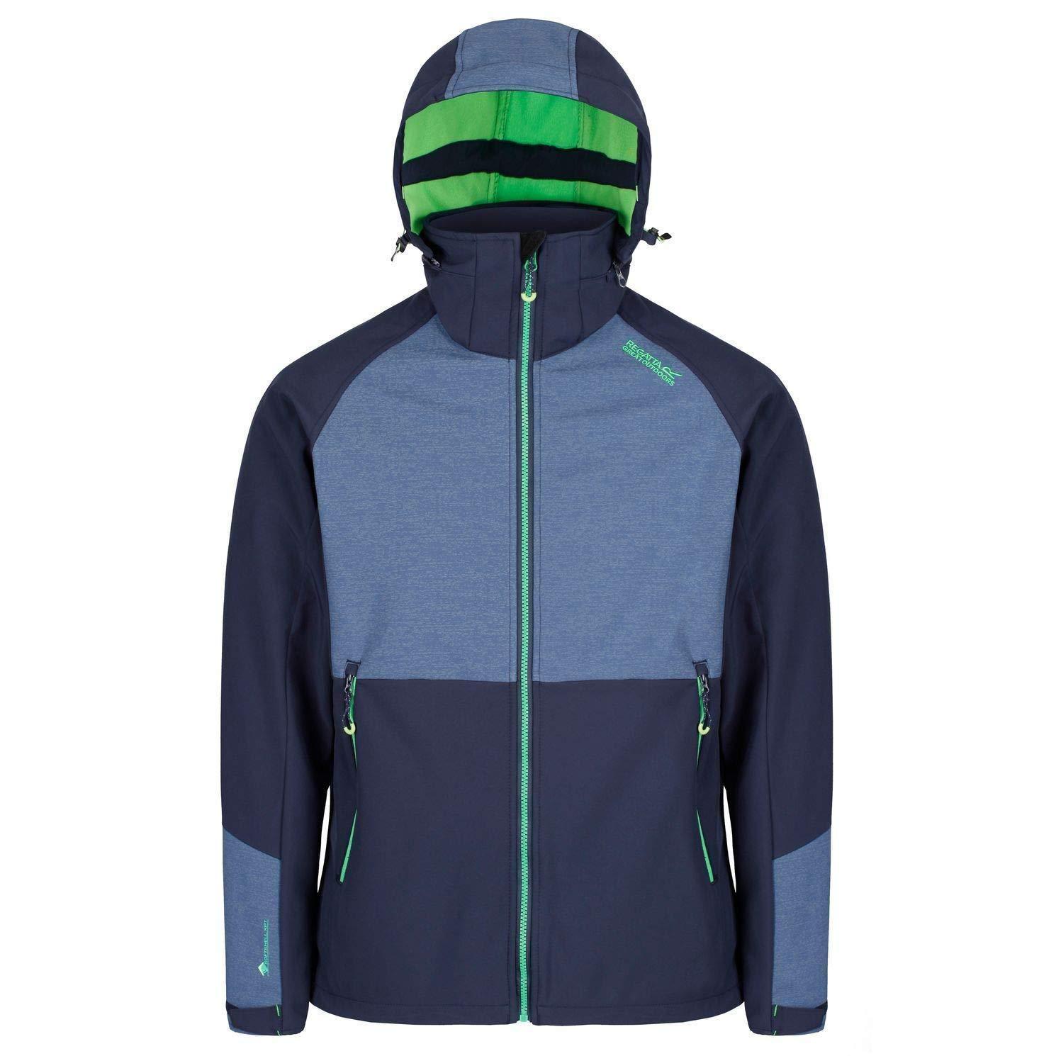 Bleu Marine XL Regatta Pour des hommes Hewitts IV Technical Water Repellent Softshell veste