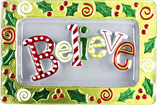 LSArts Christmas Platter-Believe-14x9 Inches, 14x9]()