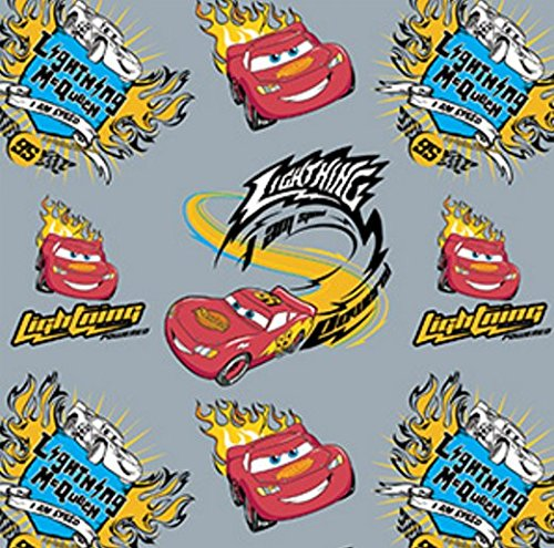 Disney Cars I Am Speed in Stone Fabric Sold by the (Lightning Mcqueen Fabric)