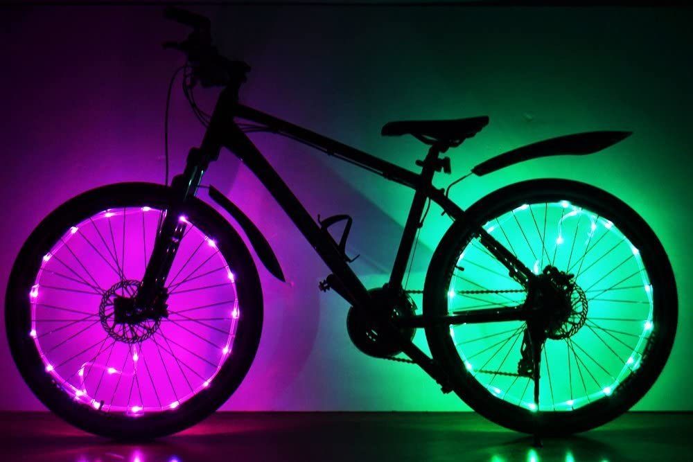 Soondar LED luces LED para rueda de bicicleta, actualizado Super ...