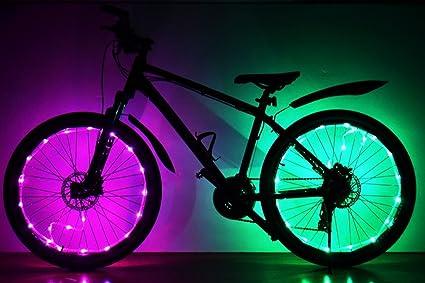 Soondar LED luces LED para rueda de bicicleta, actualizado Super brillante LED bicicleta bicicleta llanta