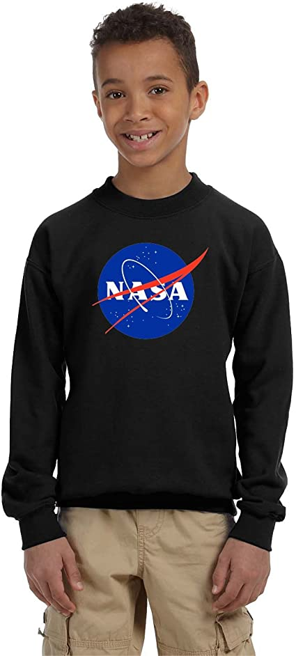 Popfunk NASA Logo Space Kids Youth Pullover Hoodie /& Stickers