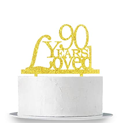 90 Years Loved Cake Topper