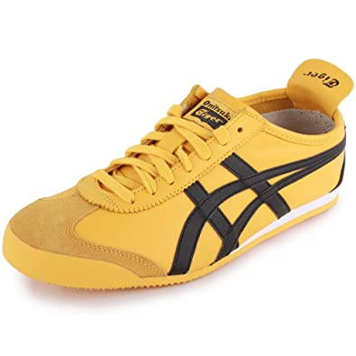 Onitsuka Tiger Mexico 66 Leather & Suede Trainers YellowBlack 4