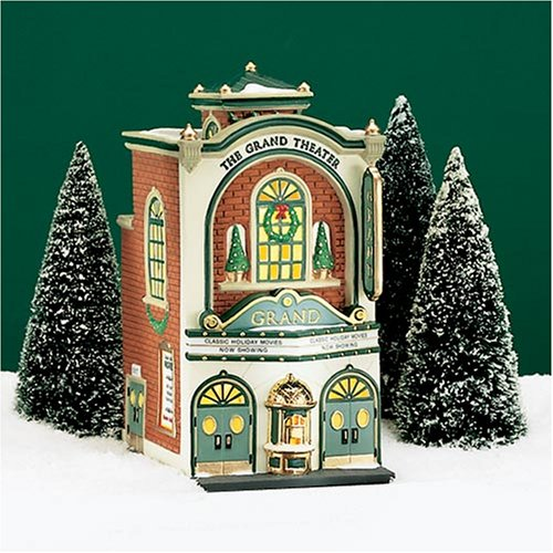 amazoncom dept 56 christmas in the city the grand movie theater 5658870 home kitchen