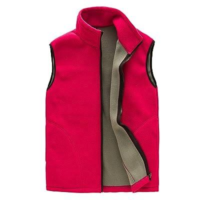 CIKRILAN Mens Thermal Fleece Vest Full Zip Gilet Sleeveless Casual Waistcoat