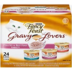 Purina Fancy Feast Gravy Lovers Gourmet Wet Cat Food- 24-3 oz. Cans