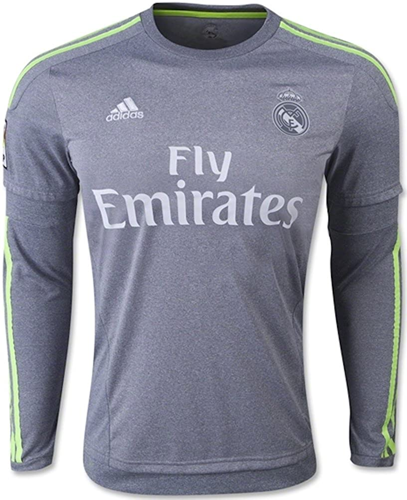 7d346e10f Amazon.com   Adidas Real Madrid CF Away Long Sleeve Jersey-GREY (S)    Sports   Outdoors