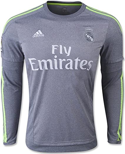 new product 73cf6 eec6b adidas Real Madrid Away Soccer Jersey Long Sleeve 2015