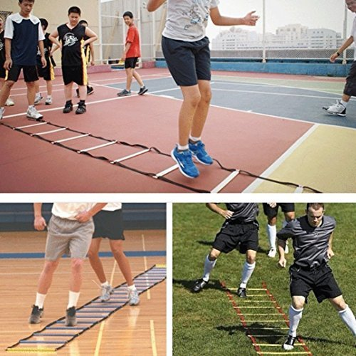 BenefitUSA 8m 20 rungs Strength & Speed Agility Training Ladder Cones Kit Soccer Football Basketball by BenefitUSA