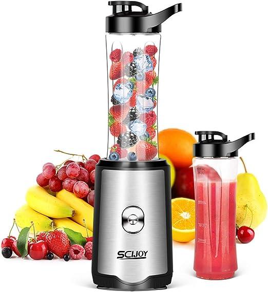 Licuadora para smoothies, batidora de vaso SCIJOY, 350 W, mini ...