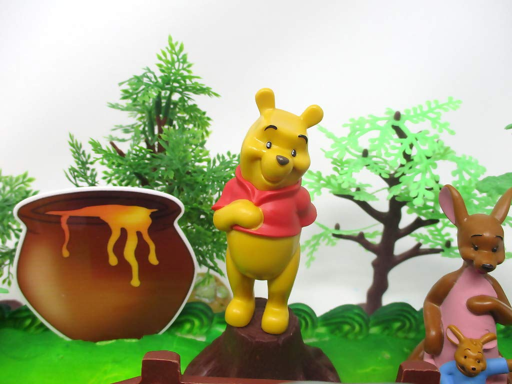 Winnie the Pooh Deluxe Cake Topper Set Featuring Pooh Bear and Friends Figures and Decorative Themed Accessories by Cake Topper (Image #1)