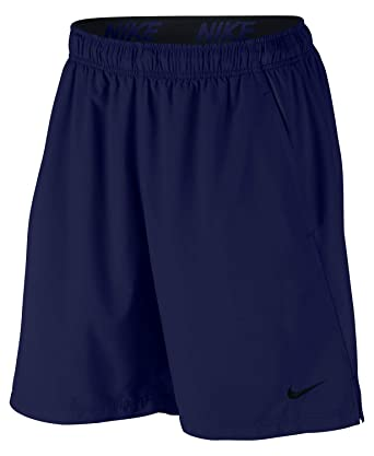 fashion on feet images of new authentic Nike Men's Big and Tall Flex Woven Training Shorts (Blue Void/Black, 4XL)