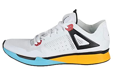 a5e5014a9f6 Jordan Mens Nike 89 Racer Cross Trainer White Black University Gold (7.5)