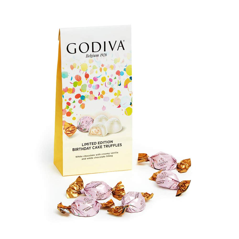 Sensational Godiva Birthday Cake White Chocolate Truffles 104G Bag Imported Personalised Birthday Cards Bromeletsinfo
