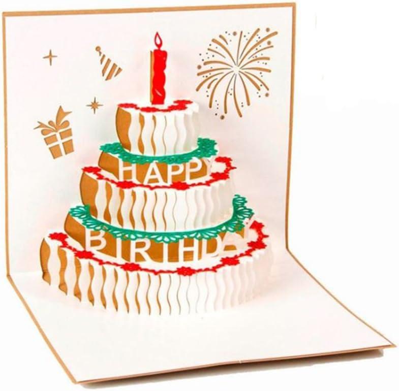 Superb Amazon Com 3D Pop Up Greeting Card Anniversary Birthday Wedding Funny Birthday Cards Online Overcheapnameinfo