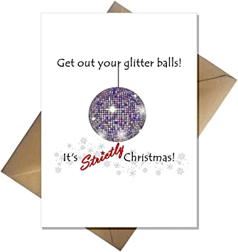 Strictly Come Dancing Christmas Card Get Out Your Glitter Balls Amazon Co Uk Office Products